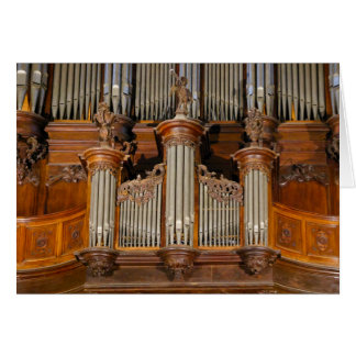 Pipe organ in Sarlat Cathedral, France Card