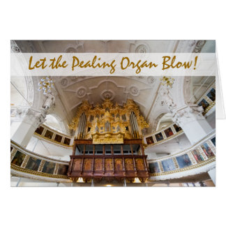 Pipe organ in Stadtkirche, Celle Christmas card
