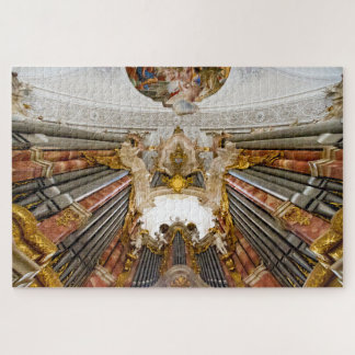 Pipe organ in Weingarten Basilica,, Germany Jigsaw Puzzle