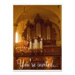 Pipe Organ invitation
