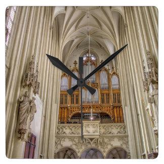 Pipe Organ Maria Am Gestade Square Wall Clock