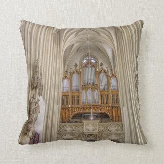 Pipe Organ Maria Am Gestade Throw Pillow