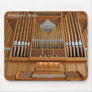 Pipe organ mousepad - St Stephen's, Seattle