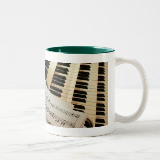 Pipe organ music mug