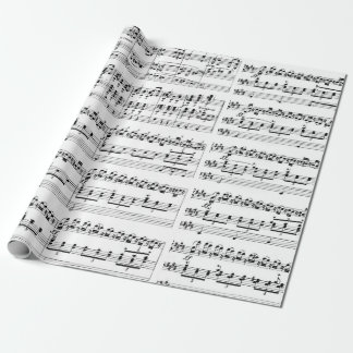 Pipe organ music wrapping paper