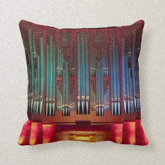 Pipe organ pillow - dark red back