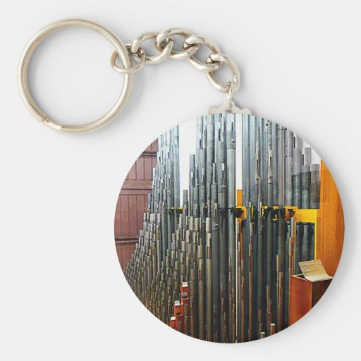 Pipe Organ Pipes Keychain
