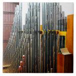 Pipe Organ Pipes Large Square Tile