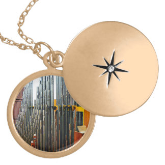 Pipe Organ Pipes Locket Necklace