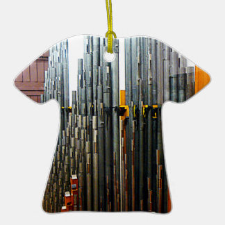 Pipe Organ Pipes Double-Sided T-Shirt Ceramic Christmas Ornament