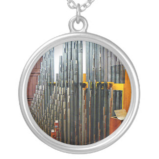 Pipe Organ Pipes Silver Plated Necklace