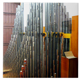 Pipe Organ Pipes Ceramic Tile