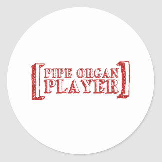 Pipe Organ Player Classic Round Sticker