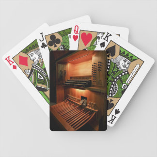 Pipe organ playing cards - organ console