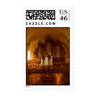Pipe Organ postage stamp
