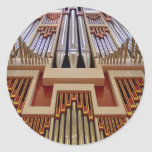 pipe organ round stickers
