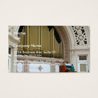 Pipe Organ Spreckels Business Card