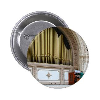 Pipe Organ Spreckels Pinback Button