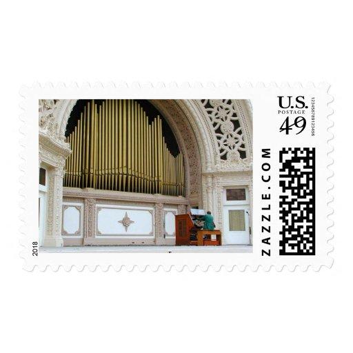 Pipe Organ Spreckels Postage Stamp