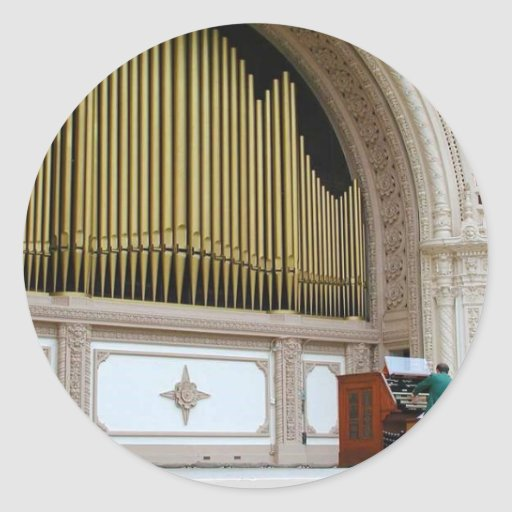 Pipe Organ Spreckels Sticker