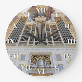 Pipe organ square clock with roman numerals