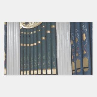 Pipe organ rectangle sticker