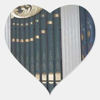 Pipe organ heart stickers
