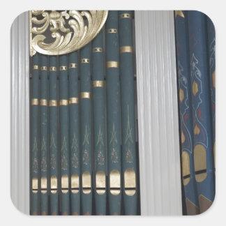 Pipe organ square stickers