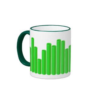Pipe pattern ringer coffee mug