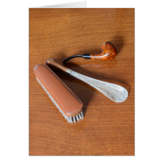 Pipe, Shoehorn And Clothes Brush Card