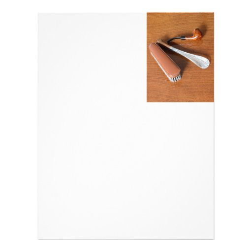 Pipe, Shoehorn And Clothes Brush Letterhead Template
