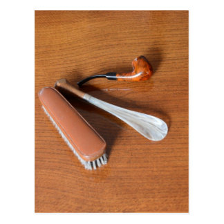Pipe, Shoehorn And Clothes Brush Postcard