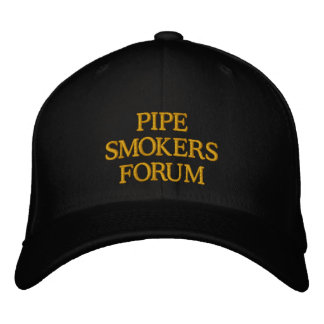 Pipe Smokers Forum Black and Gold cap Embroidered Hat