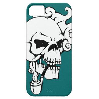 Pipe Smoking Skull Graphic iPhone Case