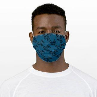 Pipe Valve Plumbers Mask Dark Blue