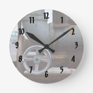 pipe wheel rusting metal steampunk round clock