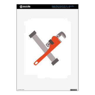 Pipe & Wrench Decals For iPad 3