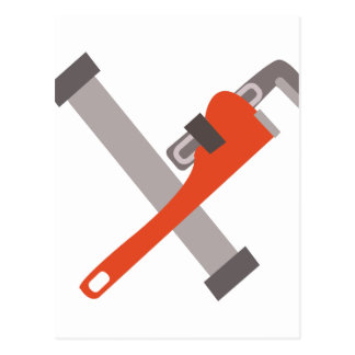 Pipe & Wrench Postcard