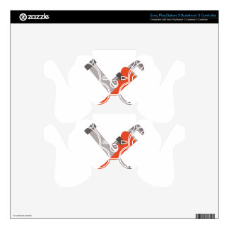 Pipe & Wrench PS3 Controller Skin