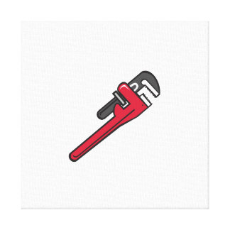 Pipe Wrench Retro Canvas Print