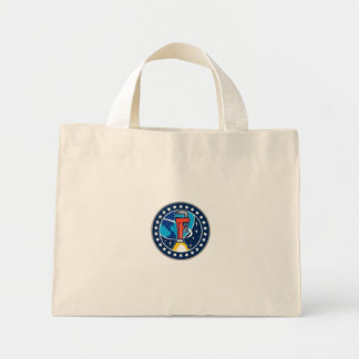 Pipe Wrench Rocket Booster Orbit Earth Circle Retr Mini Tote Bag