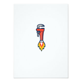 Pipe Wrench Rocket Booster Side Retro Card
