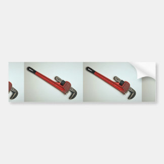 Pipe wrench tool for turning soft iron pipes car bumper sticker