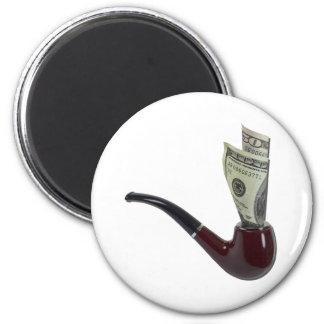 PipeFilledMoney090411 2 Inch Round Magnet