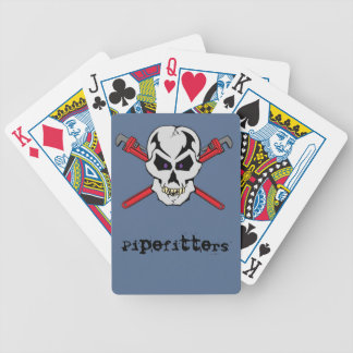 Pipefitter Skull Cards Bicycle Playing Cards
