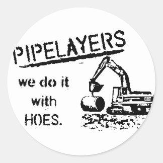 Pipelayer Humor Classic Round Sticker