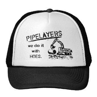 Pipelayer Humor Mesh Hats