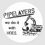 Pipelayer Humor Stickers