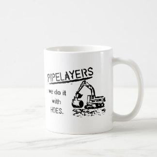 Pipelayer w/ girl sitting on pipe coffee mug