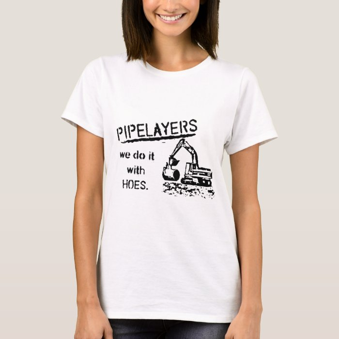 Pipelayer w/ girl sitting on pipe T-Shirt